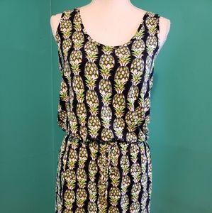 Banana Republic navy pineapple dress